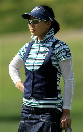 CARLSBAD, CA - MARCH 27:  Hee Kyung Seo of South Korea waits to [utt on the second hole during the third round of the Kia Classic Presented by J Golf at La Costa Resort and Spa on March 27, 2010 in Carlsbad, California.  (Photo by Stephen Dunn/Getty Images)