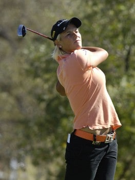 Nicole Perrot wins the LPGA Longs Drugs Challenge at the Ridge Golf Club in Auburn, California on Sunday, October 9, 2005Photo by Marc Feldman/WireImage.com
