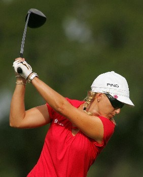 MT. PLEASANT, SC - JUNE 01: Carin Koch of Sweden hits her tee shot on the third hole during the second round of the Ginn Tribute hosted by ANNIKA at RiverTowne County Club on June 1, 2007 in Mt. Pleasant, South Carolina.  (Photo by Scott Halleran/Getty Images)