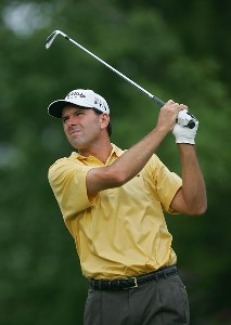 Len Mattiace during the second round the 2006 Wachovia Championship at the Quail Hollow Club in Charlotte, North Carolina on May 5, 2006.Photo by Sam Greenwood/WireImage.com