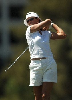 Patricia Meunier-Lebouc in action during the final round of the 2005 LPGA Takefuji Classic at the Las Vegas Country Club in Las Vegas, Nevada, April 16, 2005.Photo by Steve Grayson/WireImage.com