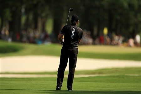 PONTE VEDRA BEACH, FL - MAY 11:  Sergio Garcia of Spain stares down his approach shot on the 11th hole during the final round of THE PLAYERS Championship on THE PLAYERS Stadium Course at TPC Sawgrass on May 11, 2008 in Ponte Vedra Beach, Florida.  (Photo by Richard Heathcote/Getty Images)