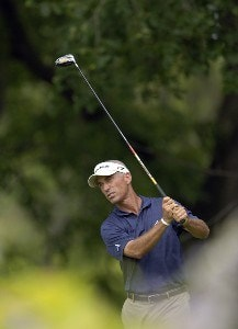 Corey Pavin during the fourth and final round of the U.S. Bank Championship in Milwaukee at Brown Deer Park Golf Course in Milwaukee, Wisconsin, on July 30, 2006.Photo by Steve Levin/WireImage.com