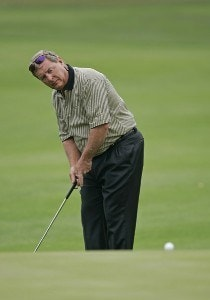 Fuzzy Zoeller during the first round of the 2006 Outback Steakhouse Pro-Am held at TPC of Tampa Bay in Lutz, Florida, on February 24, 2006.Photo by: Chris Condon/PGA TOUR