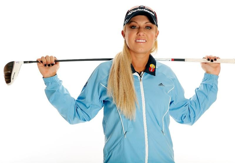 CITY OF INDUSTRY, CA - MARCH 23:  Natalie Gulbis poses for a portrait on March 23, 2011 at the Industry Hills Golf Club in the City of Industry, California.  (Photo by Jonathan Ferrey/Getty Images)