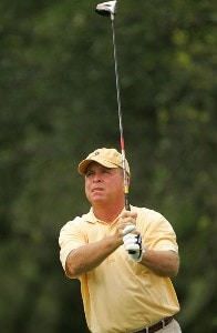 Mark McCumber during the first round of the FedEx Kinko's Classic held at The Hills Country Club in Austin, Texas, on April 28, 2006. Photo by Sam Greenwood/WireImage.com