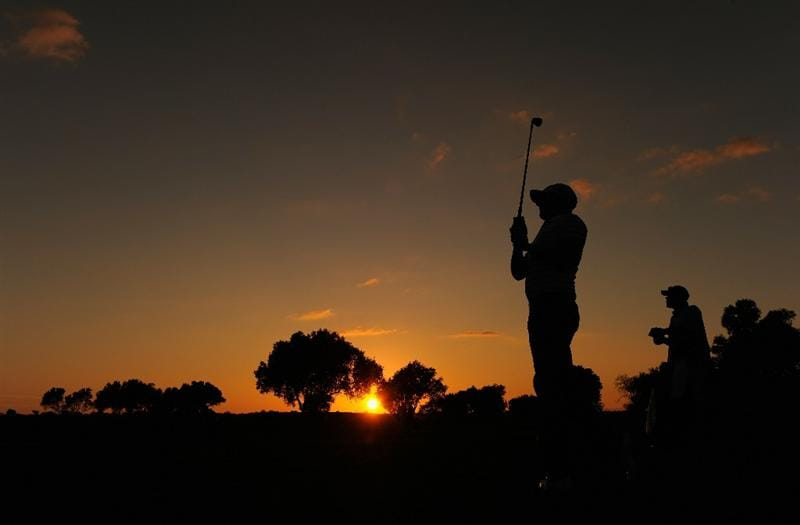 FARO, PORTUGAL - OCTOBER 14:  Mikko Ilonen of Finland plays his approach shot to the nineth hole during the first round of the Portugal Masters at the Oceanico Victoria Golf Course on October 14, 2010 in Faro, Portugal.  (Photo by Stuart Franklin/Getty Images)