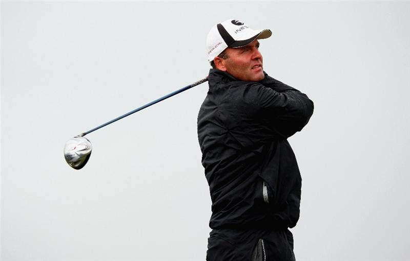 BALTRAY, IRELAND - MAY 16:  Thomas Levet of France hits his tee-shot on the second hole during the third round of The 3 Irish Open at County Louth Golf Club on May 16, 2009 in Baltray, Ireland.  (Photo by Andrew Redington/Getty Images)