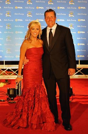 LOUISVILLE, KY - SEPTEMBER 17:  Phil Mickelson of the USA team and wife Amy arrive on the red carpet for the Ryder Cup Gala dinner prior to the start of the 2008 Ryder Cup September 17, 2008 in Louisville, Kentucky.  (Photo by Sam Greenwood/Getty Images)
