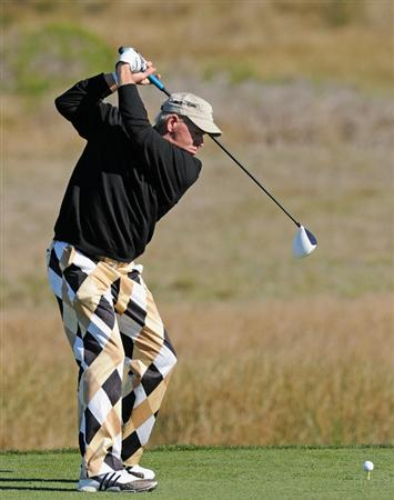 PEBBLE BEACH, CA - FEBRUARY 10:  John Daly plays a shot during the first round of the AT&T Pebble Beach National Pro-Am at Monterey Peninsula Country Club on February 10, 2011  in Pebble Beach, California.  (Photo by Stuart Franklin/Getty Images)