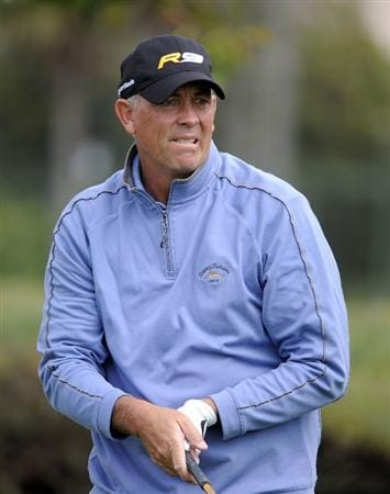NEWPORT BEACH, CA - MARCH 06:  Tom Lehman watches his tee shot on the sixth hole during the second round of the Toshiba Classic at the Newport Beach Country Club on March 6, 2010 in Newport Beach, California.  (Photo by Harry How/Getty Images)