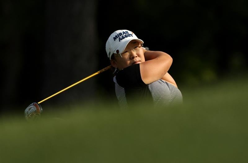 BETHLEHEM, PA - JULY 10:  Jiyai Shin of South Korea watches her tee shot on the 2nd hole during the second round of the 2009 U.S. Women's Open at Saucon Valley Country Club on July 10, 2009 in Bethlehem, Pennsylvania.  (Photo by Streeter Lecka/Getty Images)