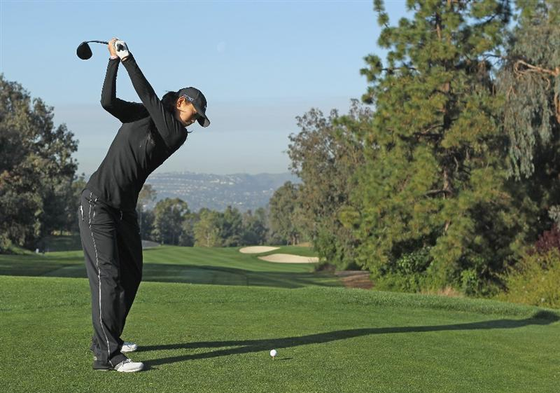 CITY OF INDUSTRY, CA - MARCH 23:  Michelle Wie hits a shot during the pro-am prior to the start of the Kia Classic on March 23, 2011 at the Industry Hills Golf Club in the City of Industry, California.  (Photo by Scott Halleran/Getty Images)