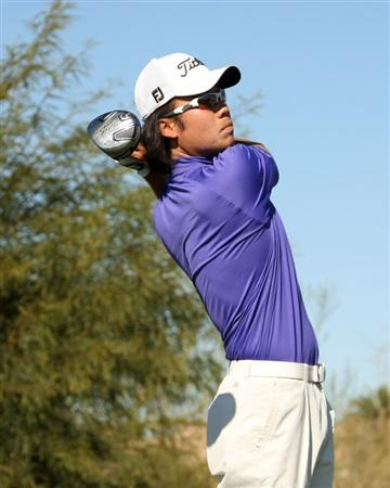 SCOTTSDALE, AZ - JANUARY 31:  Kevin Na hits his tee shot on the ninth hole during the third round of the FBR Open on January 31, 2009 at TPC Scottsdale in Scottsdale, Arizona.  (Photo by Stephen Dunn/Getty Images)