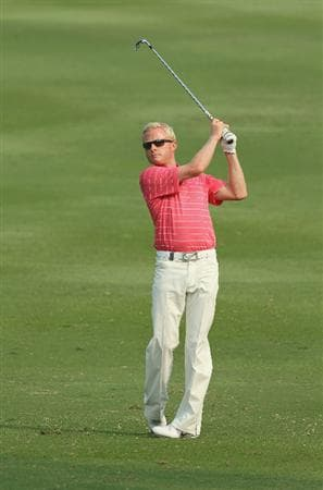HONG KONG - NOVEMBER 19:  Simon Dyson of England plays a shot during day two of the UBS Hong Kong Open at The Hong Kong Golf Club on November 19, 2010 in Hong Kong, Hong Kong.  (Photo by Stanley Chou/Getty Images)