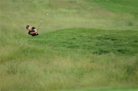 HAVRE DE GRACE, MD - JUNE 05: Suzann Pettersen of Norway hits her second shot on the 4th hole during the first round of the McDonald's LPGA Championship at Bulle Rock Golf Course on June 5, 2008 in Havre de Grace, Maryland.  (Photo by Andy Lyons/Getty Images)
