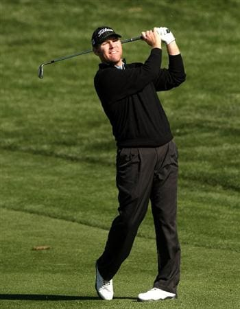 SCOTTSDALE, AZ - JANUARY 31:  Troy Matteson hits his second shot on the second hole during the third round of the FBR Open on January 31, 2009 at TPC Scottsdale in Scottsdale, Arizona.  (Photo by Stephen Dunn/Getty Images)