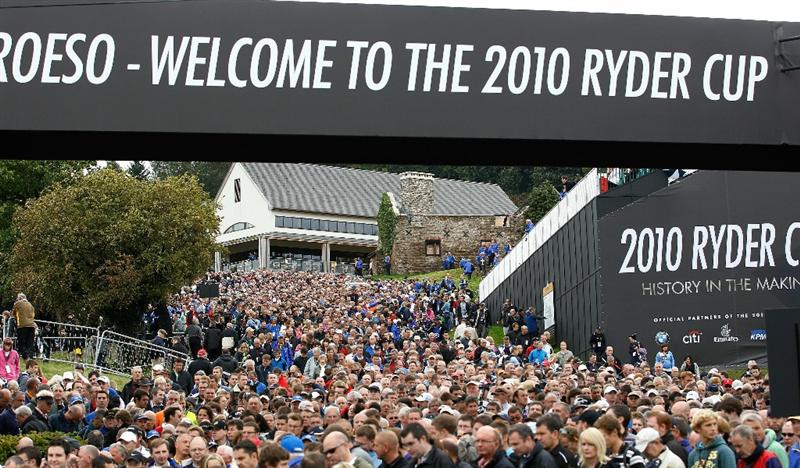 NEWPORT, WALES - SEPTEMBER 30:  General View of crowds during the Opening Ceremony prior to the 2010 Ryder Cup at the Celtic Manor Resort on September 30, 2010 in Newport, Wales. (Photo by Sam Greenwood/Getty Images)