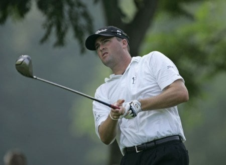 Ryan Palmer on the 2nd tee in the second round of the 2005 B.C. Open at En-Joi Golf Club in Endicott, New York. Friday, July 15 2005.Photo by Chris Condon/PGA TOUR/WireImage.com