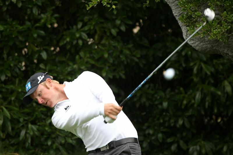 PEBBLE BEACH, CA - JUNE 15:  Mikko Ilonen of Finland hits a shot during a practice round prior to the start of the 110th U.S. Open at Pebble Beach Golf Links on June 15, 2010 in Pebble Beach, California.  (Photo by Scott Halleran/Getty Images)