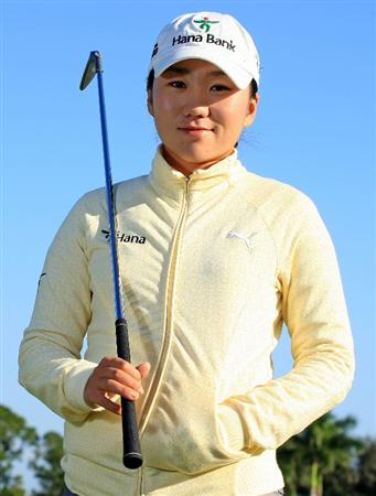 WEST PALM BEACH, FL - NOVEMBER 19:  LPGA player In-Kyung Kim poses for a portrait prior to the start of the ADT Championship at the Trump International Golf Club on November 19, 2008 in West Palm Beach, Florida.  (Photo by Scott Halleran/Getty Images)