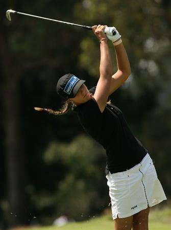 MELBOURNE, AUSTRALIA - FEBRUARY 14:  Marianne Skarpnord of Norway plays her second shot on the fifth hole during day three of the 2009 Women`s Australian Open held at the Metropolitan Golf Club February 14, 2009 in Melbourne, Australia.  (Photo by Robert Prezioso/Getty Images)