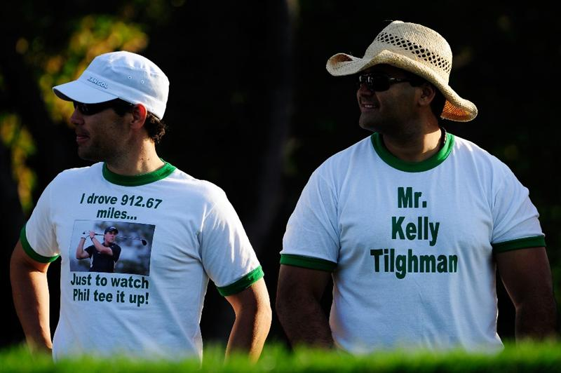 CHASKA, MN - AUGUST 13:  Golf fans watch the play on the tenth hole during the first round of the 91st PGA Championship at Hazeltine National Golf Club on August 13, 2009 in Chaska, Minnesota.  (Photo by Sam Greenwood/Getty Images)