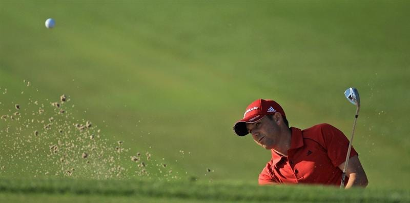 ORLANDO, FL - MARCH 25:  Sergio Garcia of Spain plays his third shot at the 1st hole during the second round of the 2011 Arnold Palmer Invitational presented by Mastercard at the Bay Hill Lodge and Country Club on March 25, 2011 in Orlando, Florida.  (Photo by David Cannon/Getty Images)