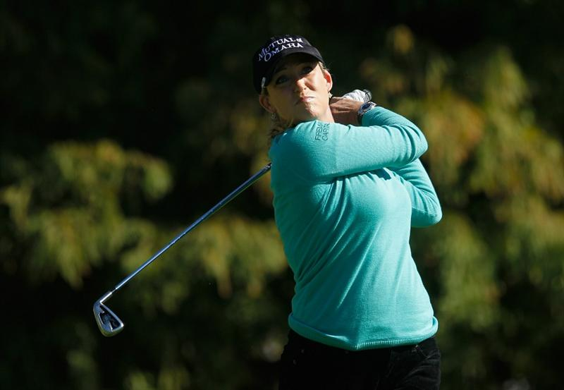 ORLANDO, FL - DECEMBER 04:  Cristie Kerr hits her tee shot on fourth hole during the third round of the LPGA Tour Championship at the Grand Cypress Resort on December 4, 2010 in Orlando, Florida.  (Photo by Scott Halleran/Getty Images)