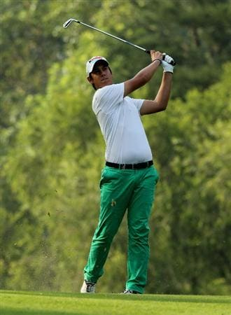 HONG KONG - NOVEMBER 21:  Matteo Manassero of Italy in action during day four of the UBS Hong Kong Open at The Hong Kong Golf Club on November 21, 2010 in Hong Kong, Hong Kong.  (Photo by Stanley Chou/Getty Images)