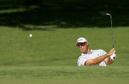 TULSA, OK - AUGUST 09:  Jonathan Byrd plays a bunker shot on the seventh during the first round of the 89th PGA Championship at the Southern Hills Country Club on August 9, 2007 in Tulsa, Oklahoma.  (Photo by Streeter Lecka/Getty Images)