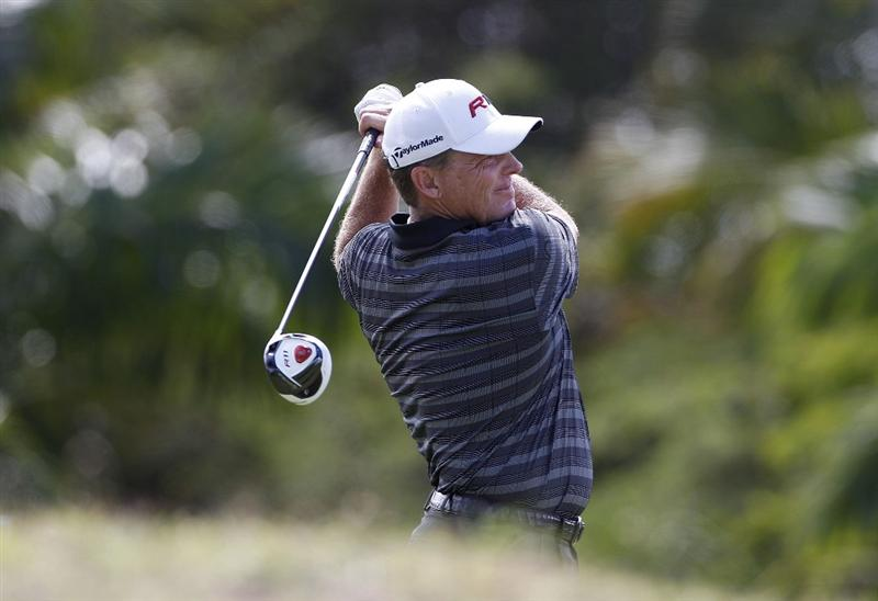 RIO GRANDE, PR - MARCH 13: Michael Bradley hits his drive on the 12th hole during the final round of the Puerto Rico Open presented by seepuertorico.com at Trump International Golf Club on March 13, 2011 in Rio Grande, Puerto Rico.  (Photo by Michael Cohen/Getty Images)