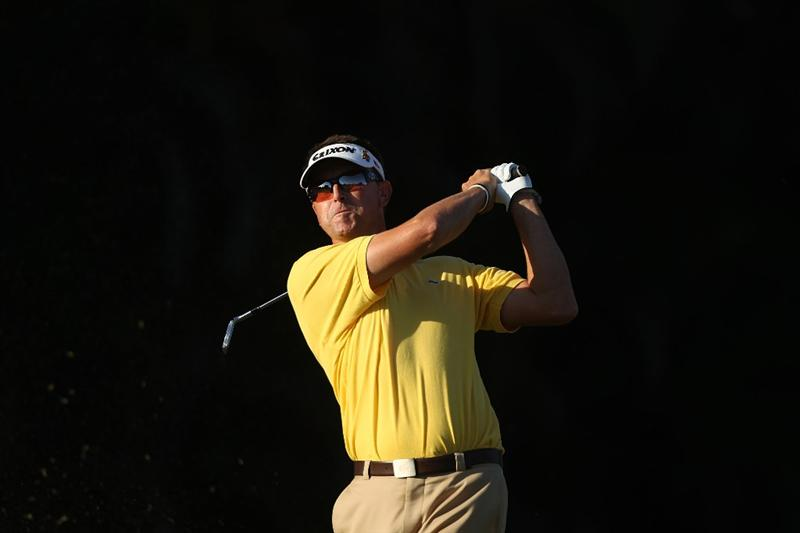 DORAL, FL - MARCH 13:  Robert Allenby of Australia tees off on the 15th tee box during round three of the 2010 WGC-CA Championship at the TPC Blue Monster at Doral on March 13, 2010 in Doral, Florida.  (Photo by Scott Halleran/Getty Images)