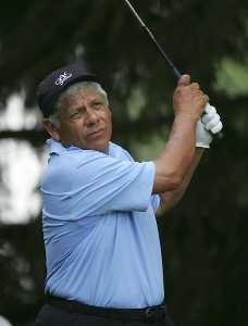 Lee Trevino during the first round of the Commerce Bank Championship on the Red Course at Eisenhower Park  in East Meadow, New York on June 23, 2006.Photo by Michael Cohen/WireImage.com