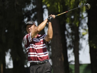 Isao Aoki during the third round of the JELD-WEN Tradition at The Reserve Vineyards & Golf Club in Aloha, Oregon on Saturday, August 26, 2006.Photo by Steve Levin/WireImage.com