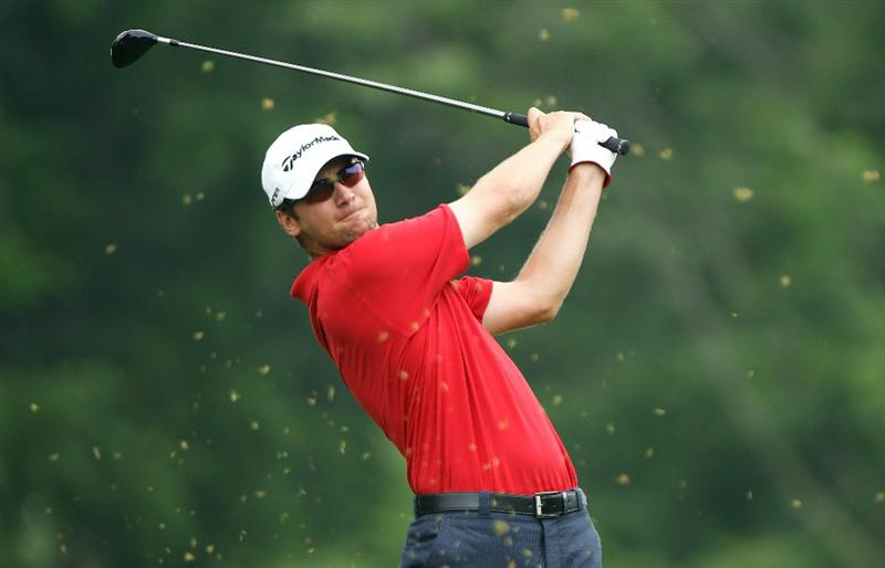 DUBLIN, OH - JUNE 05:  Sean O'Hair hits his tee shot on the third hole during the third round of the Memorial Tournament presented by Morgan Stanley at Muirfield Village Golf Club on June 5, 2010 in Dublin, Ohio.  (Photo by Scott Halleran/Getty Images)