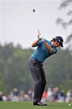 HUMBLE, TX - APRIL 5:    Matthew Goggin hits his approach shot into the 2nd hole during the third round of the Shell Houston Open at Redstone Golf Club on April 5, 2008 in Humble, Texas.  (Photo by Marc Feldman/Getty Images)
