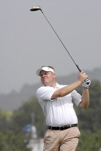 Carl Pettersson of Sweden during the first round of the WGC-Barbados World Cup held on the Country Club Course at the Sandy Lane Resort in St. James, Barbados, on December 7, 2006. PGA TOUR - WGC - 2006 Barbados World Cup - First RoundPhoto by Steve Levin/WireImage.com