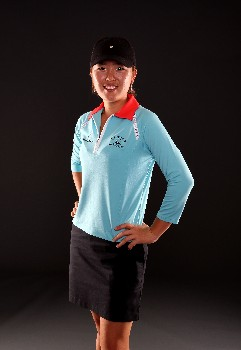 PORTLAND, OR - AUGUST 23:  Angela Park poses for a portrait during the LPGA Safeway Classic at the Columbia Edgewater Country Club on August 23, 2007 in Portland, Oregon.  (Photo by Jonathan Ferrey/Getty Images)