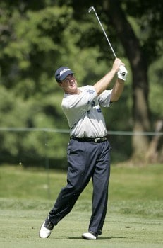 Tom Purtzer in action during the first round of the U. S. Senior Open, July 28,2005, held at the NCR Country Club, Kettering, Ohio.Photo by Stan Badz/PGA TOUR/WireImage.com
