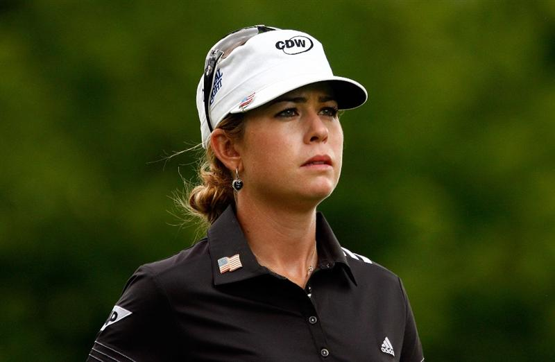 BETHLEHEM, PA - JULY 11:  Paula Creamer walks off the fourth tee during the third round of the 2009 U.S. Women's Open at the Saucon Valley Country Club on July 11, 2009 in Bethlehem, Pennsylvania.  (Photo by Scott Halleran/Getty Images)