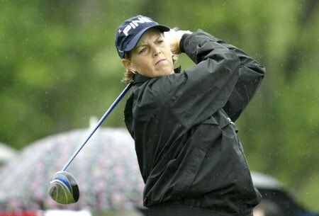 Wendy Ward drives during the first round of the 2005 Wegman's Rochester LPGA at Locust Hill Country Club in  Pittsford, New York on June 16, 2005.Photo by Michael Cohen/WireImage.com