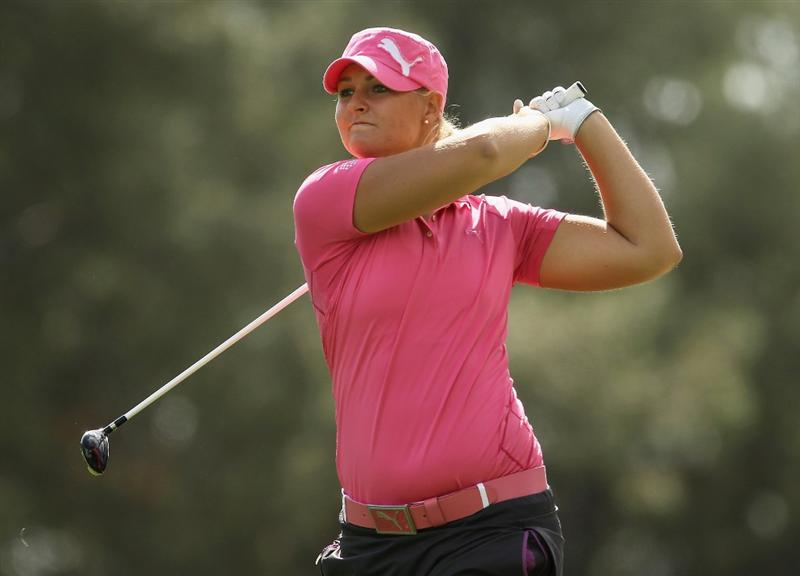CITY OF INDUSTRY, CA - MARCH 25:  Anna Nordqvist of Sweden hits her approach shot on the 12th hole during the second round of the Kia Classic on March 25, 2011 at the Industry Hills Golf Club in the City of Industry, California.  (Photo by Scott Halleran/Getty Images)