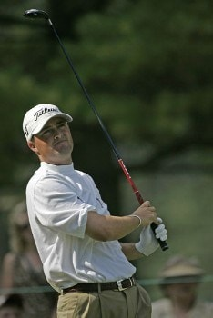 Ryan Palmer of the United States during the third round of the NEC Invitational at Firestone Country Club in Akron, Ohio on August 20, 2005.Photo by Sam Greenwood/WireImage.com