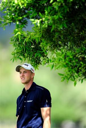 MALLORCA, SPAIN - MAY 15:  Stephan Gross Junior of Germany watches his approach shot on the fourth hole during the third round of the Open Cala Millor Mallorca at Pula golf club on May 15, 2010 in Mallorca, Spain.  (Photo by Stuart Franklin/Getty Images)