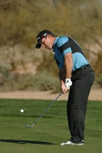 Peter Lonard during the third round of the 2007 FBR Open held at the TPC Scottsdale, Scottsdale, Arizona on February 3, 2007. PGA TOUR - 2007 FBR Open - Third Round - February 3, 2007Photo by Marc Feldman/WireImage.com