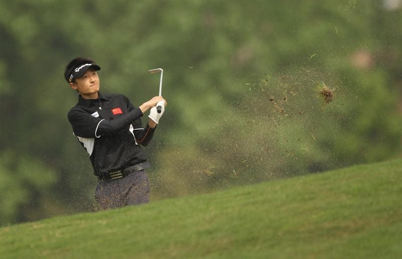 CHENGDU, CHINA - APRIL 22:  Li Hao-tong of China in action during day two of the Volvo China Open at Luxehills Country Club on April 22, 2011 in Chengdu, China.  (Photo by Ian Walton/Getty Images)