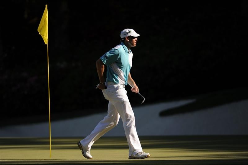 AUGUSTA, GA - APRIL 11:  Ricky Barnes walks across the 13th green during the final round of the 2010 Masters Tournament at Augusta National Golf Club on April 11, 2010 in Augusta, Georgia.  (Photo by Harry How/Getty Images)