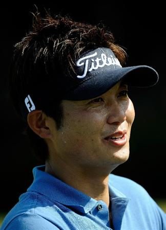 DORAL, FL - MARCH 10:  Ryuji Imada of Japan speaks with the media during a practice round for the World Golf Championships-CA Championship at the Doral Golf Resort & Spa on March 10, 2009 in Miami, Florida.  (Photo by Sam Greenwood/Getty Images)
