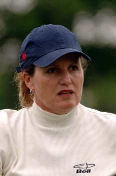 Lorie Kane competes during the second round of the 2005 Franklin American Mortgage Championship at Vanderbilt Legends Club in Franklin, Tennessee on April 29, 2005.Photo by Al Messerschmidt/WireImage.com